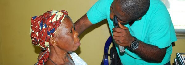Patients Receiving Free Eye Care During Afikpo Medical Mission 2013